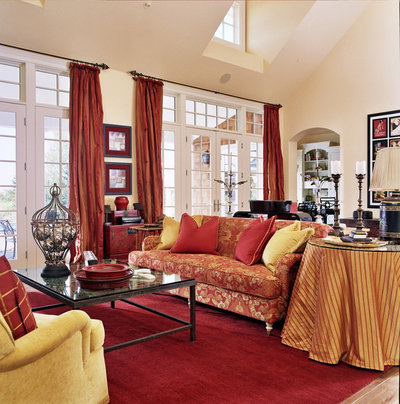 Lovely Traditional Living Room by Tina Barclay