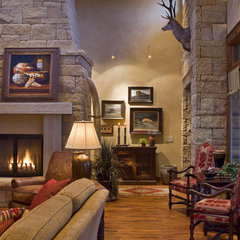 traditional living room by Rick O'Donnell Architect