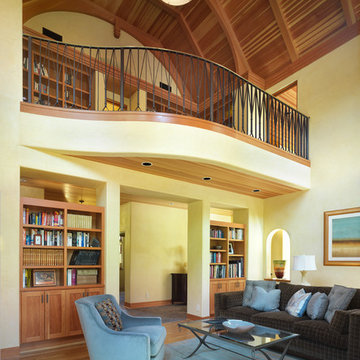 Living room to second floor library