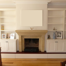 Modern Living Room by Top Shelf Cabinets & Woodworking