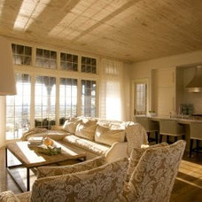 Beach Style Living Room by Tracery Interiors