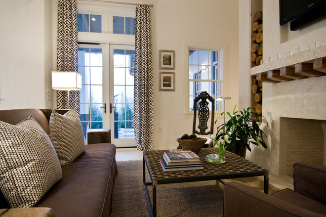 Eclectic Living Room by Tracery Interiors