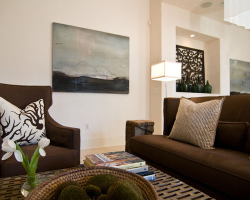 Chocolate brown couch home design ideas pictures remodel and decor for Chocolate brown and white living room
