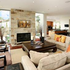 Tropical Living Room by V.I.Photography & Design
