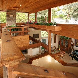 Island style living room photo in Orange County
