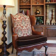 Mediterranean Living Room by von Hemert Interiors