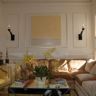 Example of an eclectic living room design in Other