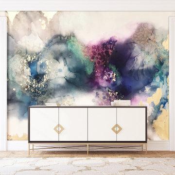 Living Room Wall Murals, Removable Wall Mural, Wall Decal, Wall Mural Wallpaper