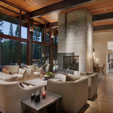 Contemporary Living Room by Ward-Young Architecture & Planning - Truckee, CA