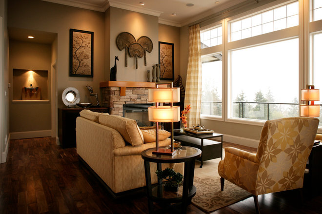 Traditional Living Room by Unique Interiors