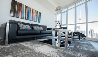 Living room with a CN Tower view