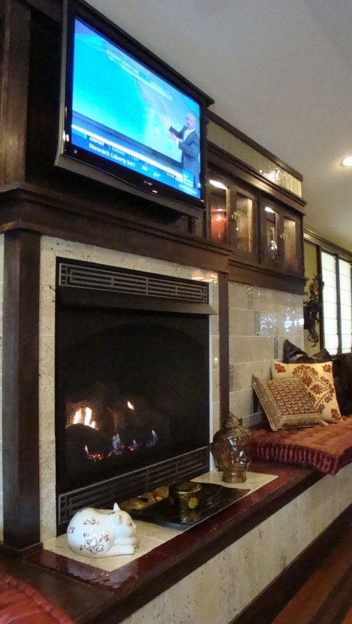 Living Room with Custom Fireplace / Media Console
