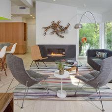 Midcentury Living Room by hughesumbanhowar architects