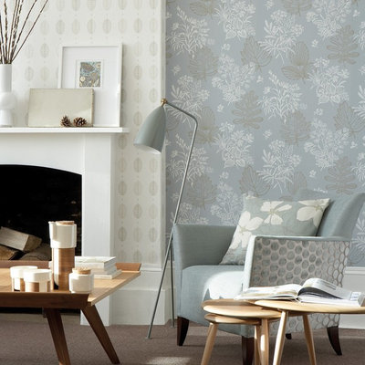 Transitional Living Room by Period Property Store