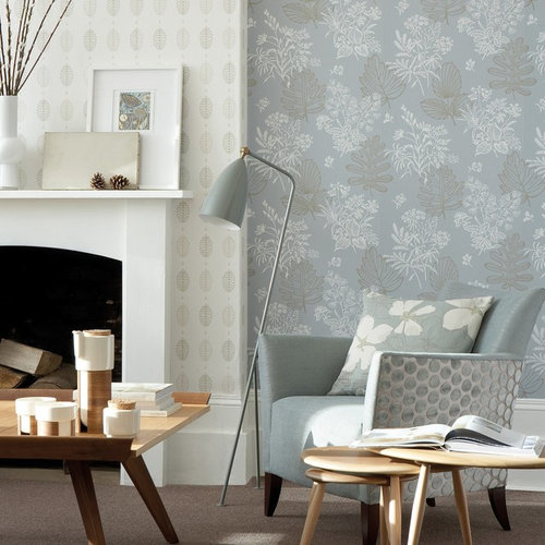 Chimney Breast Wallpaper Ideas And Photos Houzz