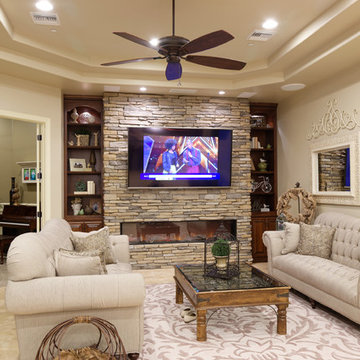 Living Room with Music Room beyond