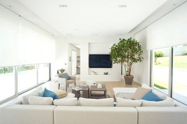 Modern Living Room by Somfy Australia