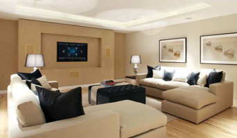 Living room with surround sound system
