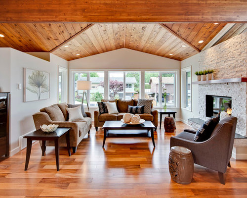 SaveEmail. My House Design Build Team. 16 Reviews. Living Room With Vaulted  Wood Ceiling - Living Room Vaulted Ceiling Houzz