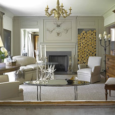 Eclectic Living Room by Wolfe Rizor Interiors