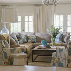 Traditional Living Room by Wolfe Rizor Interiors