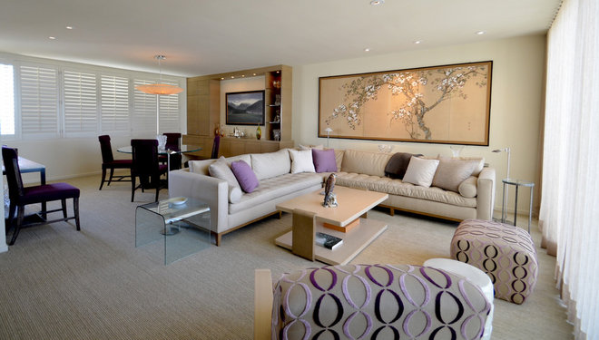Contemporary Living Room by RNW Construction