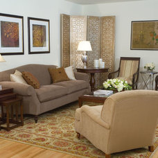 Traditional Living Room by Susan Corry Design