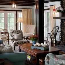 Traditional Living Room by MSM Property Development, LLC