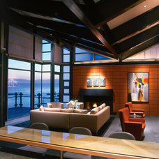 Contemporary Living Room by Mission Tile West