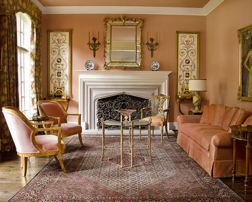 Lovely Example Of A Mid Sized Classic Formal And Enclosed Medium Tone Wood Floor Living  Room
