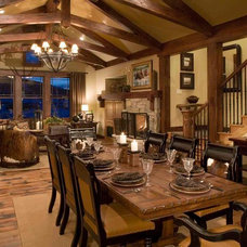 Traditional Living Room by Christopher Homes
