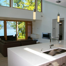 Contemporary Living Room by Copper Island Fine Homes Inc