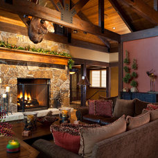 Traditional Living Room by Dann Coffey Photography