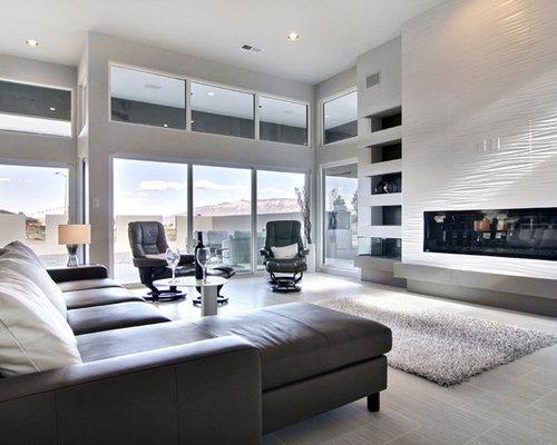 Ideas para salones | Fotos de salones con marco de chimenea de ...