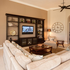Contemporary Living Room by FineCraft Custom Cabinetry Inc.
