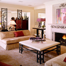 Eclectic Living Room by George Lewis Custom Homes