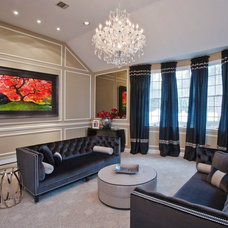 Transitional Living Room by Interiors by Just Design