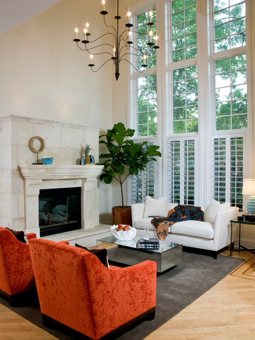 Double height living room ideas pictures remodel and decor for Double living room ideas
