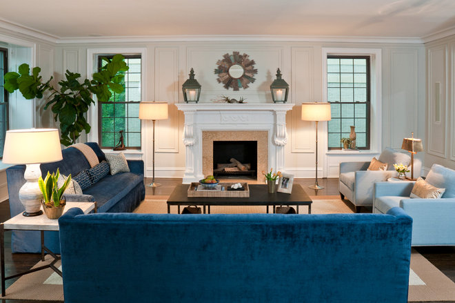 Eclectic Living Room by Jenna Wedemeyer Design, INC.