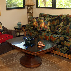Tropical Living Room by L.Lynn Interiors