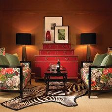 Asian Living Room by Lancaster Interior Design