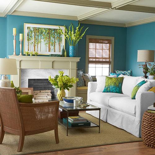Tropical living room design ideas remodels photos for Tropical living room design