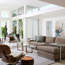 Contemporary Living Room by Mark Nichols Modern Interiors