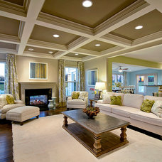 Traditional Living Room by Maxine Schnitzer Photography