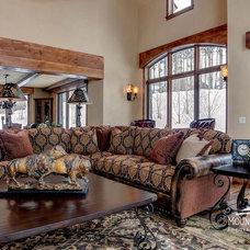 Mediterranean Living Room by Mountain Comfort Furnishings & Design