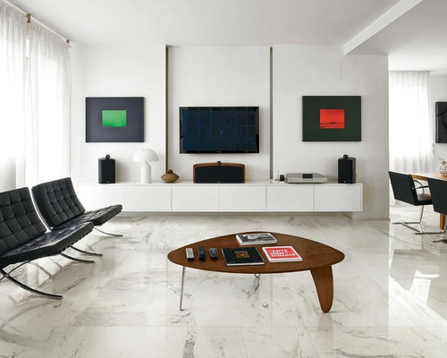 Living Room Design Ideas Renovations Photos With Marble Flooring