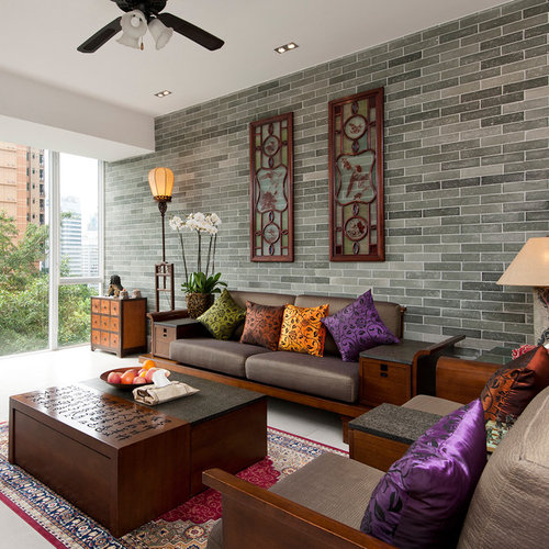 Asian Living Room Design Ideas Remodels Photos Houzz