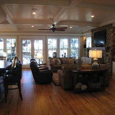 Traditional Living Room by Sea Island Builders LLC