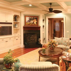 Traditional Living Room by Sea Island Builders LLC