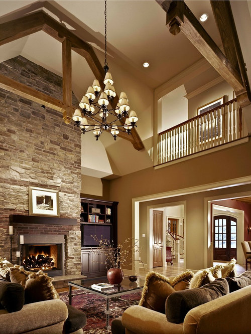 Warm living room houzz for Interior design living room warm